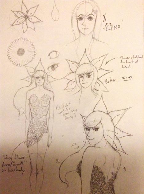 Starflower sketch